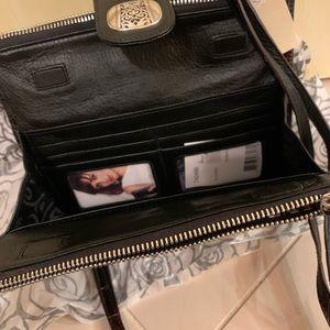 New Brighton Black and Brown Crossbody Bag